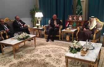 وزيرا خارجية مصر والسعودية يتفقان علي أهمية عدم السماح للتطورات الإقليمية بالتأثير على استقرار الخليج