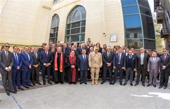 محافظ الإسكندرية وقيادات المحافظة يشاركون في احتفال الطائفة الإنجيلية بعيد الميلاد المجيد | صور