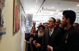 رئيس جامعة بنها يفتتح معرض جماليات الفنون القبطية | صور