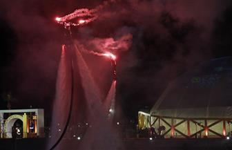 الألعاب النارية تزين سماء الغردقة مع استضافة حفل «كاف» | صور