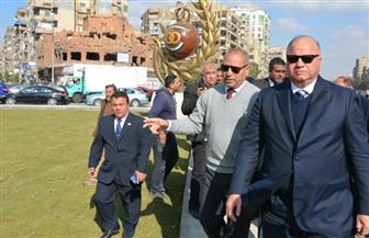 أهدتهما الأردن لمصر.. محافظ القاهرة يتابع تطوير جداريتين في مصر الجديدة | صور