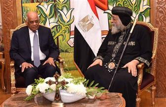البابا تواضروس خلال استقباله رئيس النواب: عيد الميلاد فرصة لجموع المصريين لنعيش الفرحة