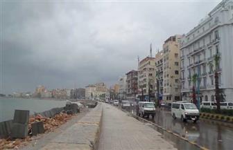 أمطار رعدية تضرب الإسكندرية.. والدفع بـ93 سيارة لشفط تراكمات المياه| صور