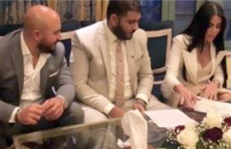 عقد قران الفنان محمود العسيلي على خبيرة التجميل أمنية عبدالمنعم