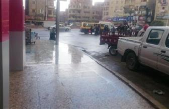أمطار متوسطة واستمرار الرياح في محافظة الغربية| صور