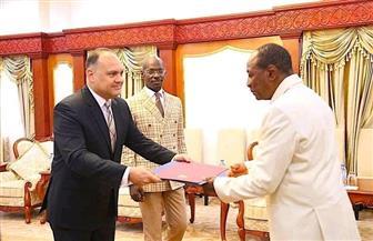 السفير المصري لدى كوناكري يقدم أوراق اعتماده لرئيس جمهورية غينيا | صور
