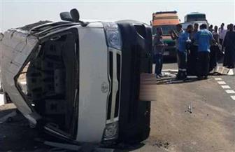 إصابة 3 مواطنين فى انقلاب سيارة بالبحيرة