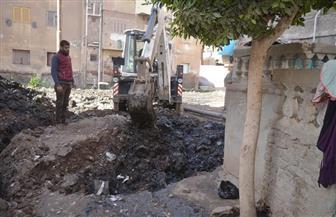 إحلال وتجديد خطوط الصرف الصحى بمنطقة أبوشاهين في المحلة الكبرى | صور