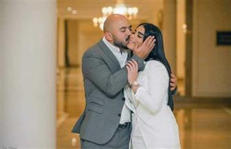 """""""التالتة تابتة"""".. أول تعليق لمحمود العسيلي بعد عقد قرانه على أمنية عبد المنعم   صور"""