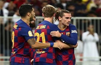 رأسية جريزمان تصيب فريقه السابق وتمنح التقدم لبرشلونة