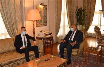 وزير الخارجية يستقبل نظيره المجري