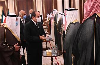 المتحدث الرئاسي ينشر صور تقديم الرئيس السيسي واجب العزاء في وفاة الشيخ صباح الأحمد بالكويت