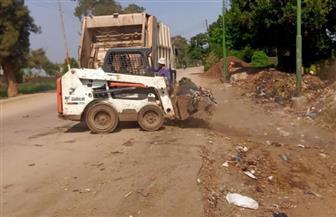 الجيزة: رفع 450 طن مخلفات من قرى مركز أوسيم | صور