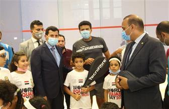 وزير الرياضة يشهد احتفالات براعم المشروع القومي للإسكواش| صور