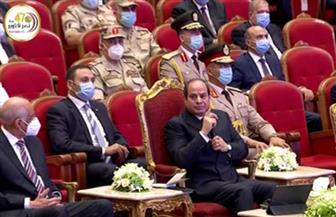 الرئيس السيسي: مصر ستنجح بوعي شعبها.. وحروب الجيل الرابع  والخامس مستمرة