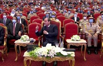 الرئيس السيسي: لا تصالح مع من يريدون هدم مصر