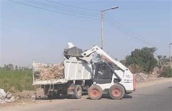 رفع ٢٣ طن مخلفات في حملة مكبرة جنوب الأقصر  صور