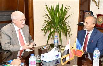 رئيس المقاولون العرب يستقبل سفير تشاد بالقاهرة وسفيرة مصر بموريشيوس | صور