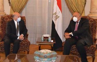 وزير الخارجية يعقد مباحثات ثنائية مع نظيره العراقي