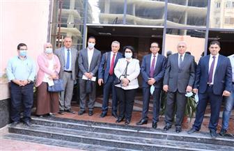 رئيس جامعة المنوفية يستقبل لجنة من المجلس الأعلى للجامعات | صور