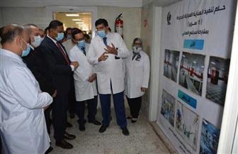 افتتاح قسم عناية جراحة القلب والصدر الجديدة بمستشفى المنصورة العام   صور