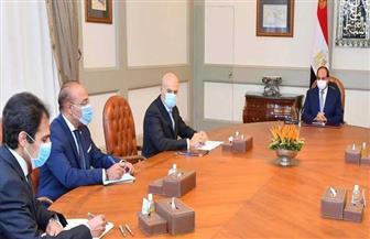 """الرئيس السيسي يستقبل رئيس شركة """"إيني"""" الإيطالية للبترول"""