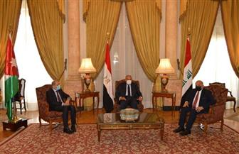 سامح شكرى يستقبل وزيري خارجيتي العراق والأردن
