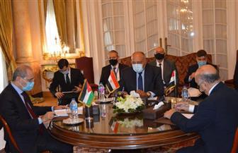 بدء المباحثات الرسمية لآلية التنسيق الثلاثي بين مصر والأردن والعراق | صور