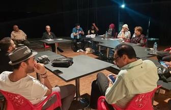 سمير العصفوري يجري البروفة الأولى لمسرحية «مورستان» بالمسرح القومي | صور