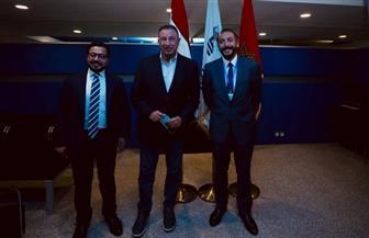 القنصل المصري بالمغرب يستقبل بعثة الأهلي