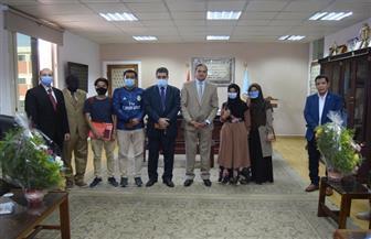 جامعة سوهاج تستقبل وفدا طلابيا لدراسة اللغة العربية لغير الناطقين بها| صور