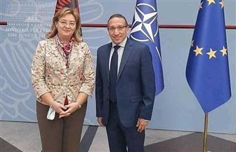 مدير عام الخارجية الألبانية للقضايا السياسية والإستراتيجية تستقبل السفير المصري الجديد لدى تيرانا