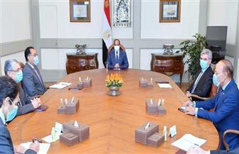 """الرئيس السيسي يستقبل رئيس شركة """"سيمنز"""" الألمانية   صور"""