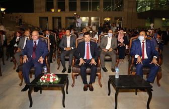 وزير الشباب والرياضة ومحافظ القاهرة يشهدان احتفالات أكتوبر بمتحف الحضارات بالفسطاط | صور