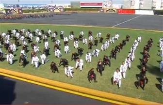 خريجو كلية الشرطة يستعرضون مهاراتهم القتالية أمام الرئيس السيسي
