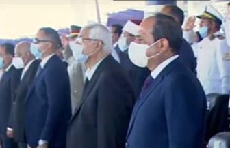 """الرئيس السيسي يشهد """"سلام الشهيد"""" بحفل تخريج طلبة أكاديمية الشرطة"""