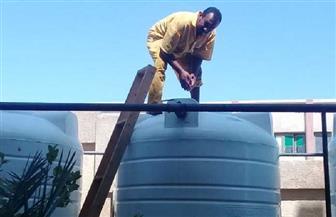 حملات صيانة وتطهير خزانات مياه الشرب بمدارس سفاجا استعدادا للعام الدراسي الجديد | صور
