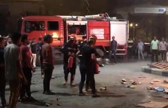السيطرة على حريق بكشك بيع حلويات ببورسعيد | صور