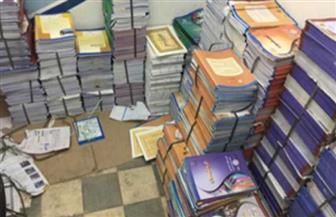 ضبط 600 ألف نسخة كتاب دراسى بدون تفويض بمخزن بأبوالنمرس