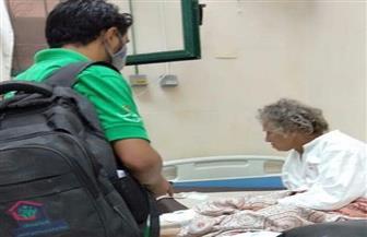 """""""أطفال وكبار بلا مأوى"""" ينقذ سيدة مسنة تقيم بالشارع منذ ٤٠ عاما صور"""