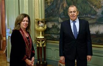 ممثلة الأمين العام للأمم المتحدة تلتقي وزير الخارجية الروسي
