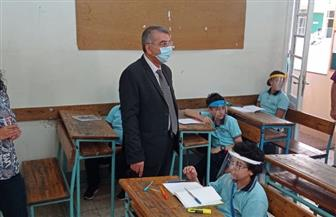 مدرستا المطرية والوايلي تبدآن العام الدراسي بتعقيم الفصول والأفنية ودورات المياه  صور