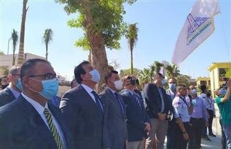 وزير التعليم العالي يشهد تحية العلم بجامعة عين شمس