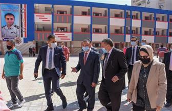 محافظ الإسكندرية يتفقد عددا من المدارس.. ويشدد على الإجراءات الاحترازية للحد من «كورونا» | صور