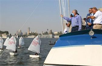 بدء مسابقة الشهيد زكريا كمال للمراكب الشراعية على هامش أسبوع القاهرة للمياه| صور