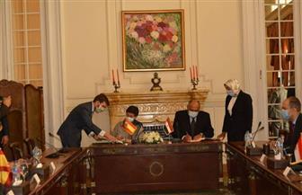 وزيرا خارجية مصر وإسبانيا يوقعان مذكرة تفاهم للتشاور السياسي لتطوير العلاقات بين البلدين | صور