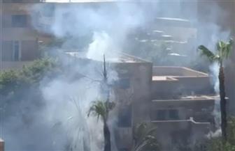 السيطرة على حريق بجوار مدرسة إعدادي بحدائق القبة| فيديو