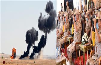 وزير الدفاع يشهد المرحلة الرئيسية من المناورة بالذخيرة الحية «ردع 2020» | صور