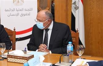 وزير الخارجية يستعرض الجهود الوطنية المبذولة للارتقاء بحقوق الإنسان