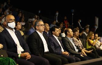 وزراء السياحة والرياضة والهجرة يشهدون نهائي بطولة مصر الدولية للإسكواش بسفح الأهرامات|صور